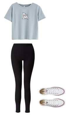 """""""Untitled #43"""" by mihaialexiamaria on Polyvore featuring WithChic, Miss Selfridge and Converse"""