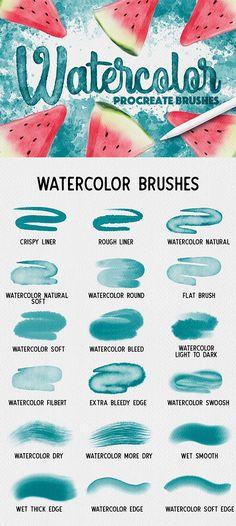 Digital Painting Tutorials, Digital Art Tutorial, Best Procreate Brushes, Digital Art Beginner, Lightroom, Ipad Art, Learn Art, Photoshop Brushes, Best Watercolor Brushes