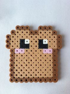 Kawaii Toast / Bread Perler Bead by GeektasticCrafts on Etsy, $1.99