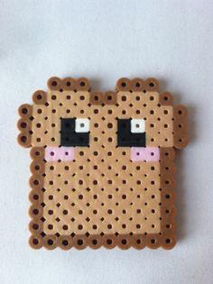 Kawaii Toast / Bread Perler Bead by GeektasticCrafts on Etsy, $1.99