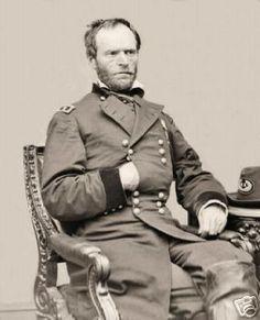 Civil War Photo Union General, William Tecumseh Sherman