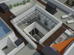 Cubiertas del edificio de viviendas situado en el centro de Savilla Stairs, Home Decor, Buildings, Centre, Architecture, Interiors, Stairway, Decoration Home, Room Decor