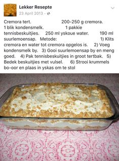 Cremora tert – World Food Tart Recipes, Baking Recipes, Cookie Recipes, Dessert Recipes, Halal Recipes, Yummy Recipes, Easy Desserts, Delicious Desserts, Yummy Food