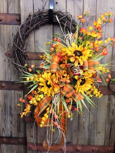 Autumn Grapevine Wreath by WilliamsFloral on Etsy