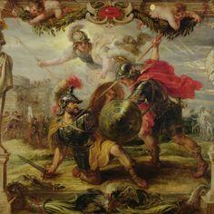 En la mitología griega, Aquiles1 o Aquileo2 (en griego antiguo Ἀχιλλεύς Αἰακίδης, Akhilleus Aiakidēs), nieto de Éaco e hijo de Peleo y de la diosa Tetis, fue un héroe de la Guerra de Troya y uno de los principales protagonistas y más grandes guerreros de la Ilíada de Homero.