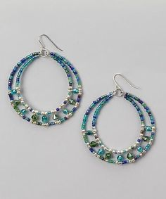 Beaded hoop earrings. Craft ideas from LC.Pandahall.com