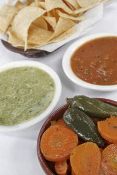 Ninfa's red and green sauces