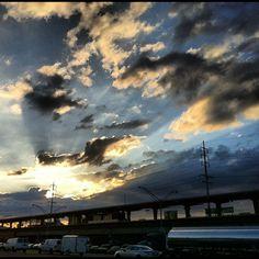 Sunset by the Merrick LIRR Station, Merrick,