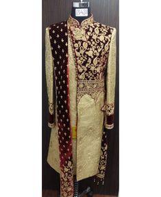 Sherwani For Men Wedding, Wedding Dresses Men Indian, Groom Wedding Dress, Wedding Men, Wedding Suits, Indian Men Fashion, Men's Fashion, Indian Groom Dress, Wedding Outfit For Boys