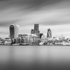London Fine Art Photo Print: City of London, Gherkin, Cheese-Grater, Walkie Talkie and The Thames Photography, Photograph, England, by LongExposureLondon on Etsy