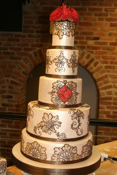 Hand painted cake  The White Flower Cake Shoppe