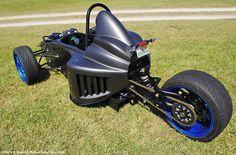 Resultado de imagen para how to build a reverse trike plans Karting, Electric Trike, Electric Cycles, Diy Go Kart, Custom Trikes, Concept Motorcycles, Reverse Trike, Bike Engine, Trike Motorcycle