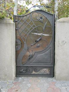 Фотографии Serega Plus Iron Front Door, Front Gates, Entrance Gates, Metal Gates, Wrought Iron Doors, Iron Gate Design, French Country Decorating, Garden Gates, Steel