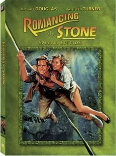 """Romancing the Stone"" (1984). A romance writer sets off to Colombia to ransom her kidnapped sister, and soon finds herself in the middle of a dangerous adventure. A really fun ""popcorn"" movie."