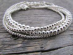 sterling silver bead bracelet bride bracelet 925 by earthwatersol