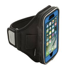 Sporteer Velocity V6 Armband for iPhone X, iPhone 8, iPhone 7, iPhone 6S and iPhone 6 with OtterBox Cases and Other Cases & Battery Cases - Strap Size Small/Medium (S/M) (Black)