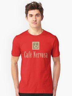 47b8e7c5a Cafe Nervosa sign – Frasier, Seattle | Slim Fit T-Shirt.