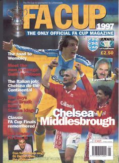 FA Cup 1997 Chelsea v Middlesbrough Magazine - 1997
