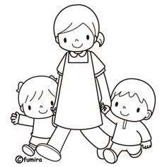 Colouring Pages, Coloring Sheets, Coloring Books, Easy Drawings For Kids, Drawing For Kids, Cartoon Familie, Word Drawings, Page Borders Design, Art N Craft