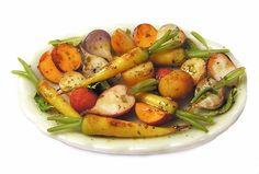 Dollhouse Miniature Platter of Roasted Root Vegetables - Handmade 1:12 scale #KivasMiniatures