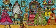 #RomanticCountry, The Second Tale, Madame Spener´s Closet, Prismacolor Premier + Caran d´Ache Neocolor II