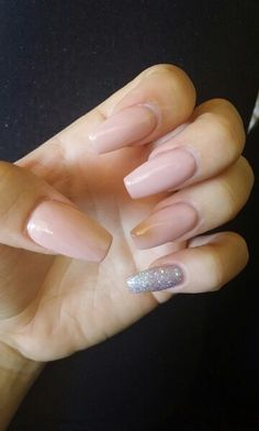 My nude sparkle nails