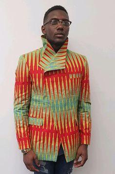 African clothing Ankara Men Blazer African Print Jacket men