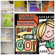 """$ Ready to Go Set 2 vocabulary building interactive notebook and printable activities was on sale 50% off for the first 48 hours! This is the lowest it will ever be! Great if you and your students are new to INB (interactive notebooks). Follow """"First Grad"""