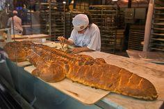 Sourdough alligator at Boudin Bakery