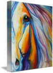 """""""MAJESTIC HORSE"""" by Marcia Baldwin: An original abstract oil painting by equine artist, Marcia Baldwin // Buy prints, posters, canvas and framed wall art directly from thousands of independent working artists at Imagekind.com."""