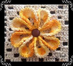 Flor de Crochê nº 2 - Tutorial Completo - Parte Única