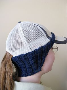 Ravelry: Ear Warmer for Baseball Hat pattern by Susan Snyder