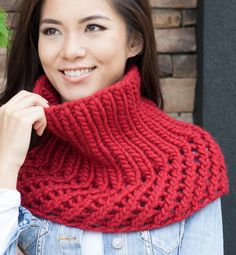 Free Knitting Pattern for Ribbed Cowlet - This easy cowl/ shoulder cozy is knit in with 2 row repeat mesh and ribbing. Super Bulky yarn. Designed by Shannon Charles for Estelle Yarns. Rated easy by Ravelrers and the designer.