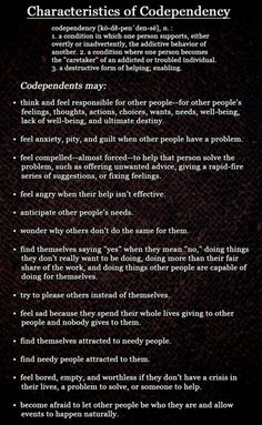 Codependency is very difficult to define, this is a good start.