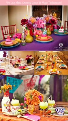 We scoured the web for Cinco de Mayo-inspired tablescapes that had unique, striking, or elegant decorative elements or styling ideas to offer. Here, you'll see some tables that incorporate traditional Mexican accents in honor of the occasion, while others simply give a nod to the holiday through the use of color, patterns, or materials. You'll surely spot something to get those tablescaping ideas jumping pronto!