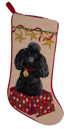 A Love Of Dogs - Black Poodle Christmas Stockings – For the Love Of Dogs - Shopping for a Cause