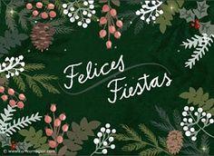Hermosa tarjeta navideña - Correomagico | Mágicas postales animadas gratis Christmas Time, Christmas Cards, Merry Christmas, Christmas Decorations, Cafe Signage, Happy Day, Party, Celebrations, Dan