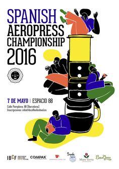 World AeroPress Championship Rad Coffee, Coffee Desk, Coffee Cups, Pamplona, Aeropress Coffee, Barista, World, Spain, Posters