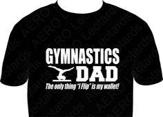Gymnastics+DAD+Tshirt+Tumble+Gymnastic+Shirt+by+AEROLeotards