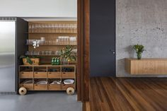 Bravos House was designed by Jobim Carlevaro Arquitetos and completed in 2015 at the Porto Riviera Condominium, Itajaí, Southern Brazil. Interior Styling, Interior Design, Condominium, Interior Inspiration, Liquor Cabinet, Bookcase, Shelves, House Design, Living Room