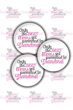 Promoted To Grandma Bottle Cap Images by EndlessTimeGraphics
