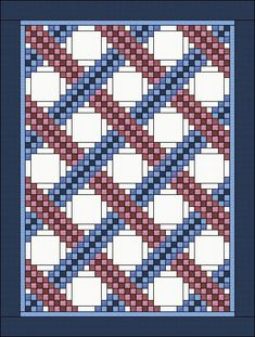 The Braided Triple Irish Chain Quilt would fit into any room of any house in the right color combination.  It is very simple and very elegant, so I designed it in the sizes of:  - King: 101x 101 - Queen: 88 x 101 - Full: 78 x 101 - Twin: 78x89  The quilt pattern gives you - the yardage for all sizes - guidance to piece the blocks with lots of images - guidance to complete the quilt  Open the pattern with the latest version of Adobe Acrobat PDF Reader and print it in booklet format to save…