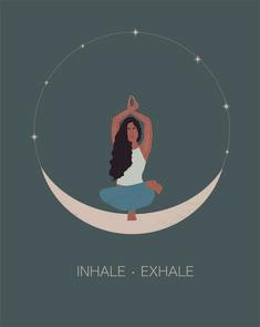 Ipad Art, Yoga Kunst, Image Yoga, Yoga Illustration, Images Instagram, Yoga Art, Yoga Meditation, Yoga Inspiration, Aesthetic Art