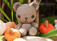We crochet the candy teddy in only a few steps. Right here you can find the directions for crocheting Amigurumi Teddy with many pictures and detailed descriptions Crochet Amigurumi, Crochet Teddy, Crochet Bear, Crochet Animals, Crochet Toys, Knitting Patterns, Crochet Patterns, Crochet Stitches, Diy Gifts For Friends