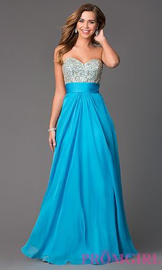 Strapless Prom Gown by La Femme 18528 at PromGirl.com