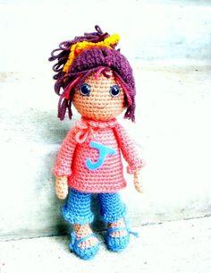 Joy  Amigurumi girl doll crochet pattern / PDF от TGLDdoll на Etsy, $4.95