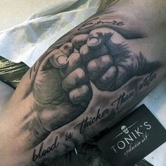 """Blood is Thicker Than Water"" Family Tattoo. This tattoo definitely don't need an explanation."