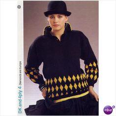 Sweater jumper knitting pattern for Sagittaire yarn Phildar knitting patterns 4 on eBid United Kingdom