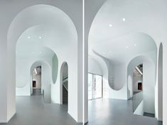 penda carves arched forms into hongkun art gallery beijing
