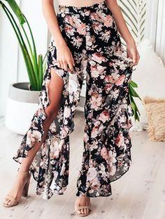 33a84a74ff6d Women s Clothing Bowknot Loose Plain Pants 13215335 - Ericdress.com